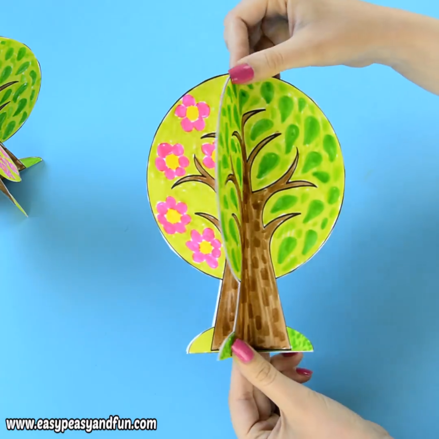 Best 12 Four Seasons Tree Craft With Template - We have a wonderful four seasons tree craft template to share with you, this one can fold nicely into a 4 seasons book or you can assemble it together to stand on it's own.