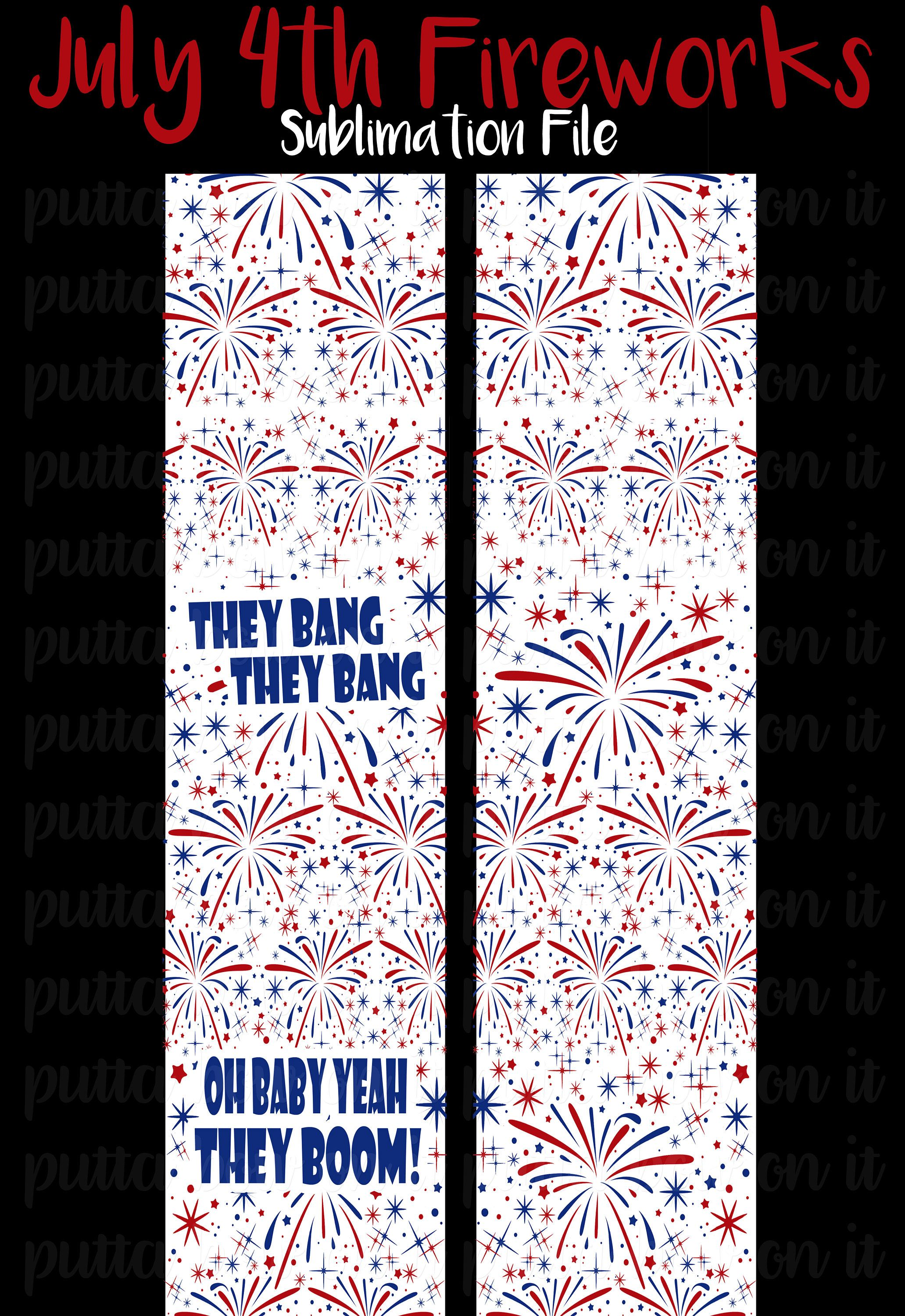 July 4th Fireworks Sublimation Cheer Bow Strips Download by ...