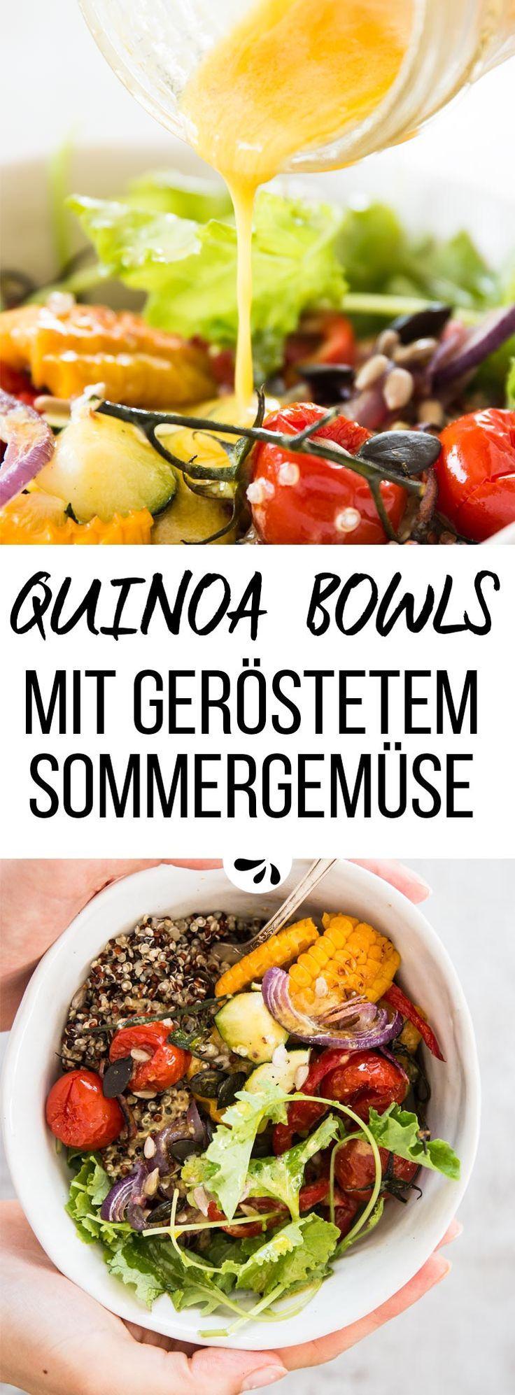 Quinoa Buddha Bowl mit Geröstetem Sommergemüse