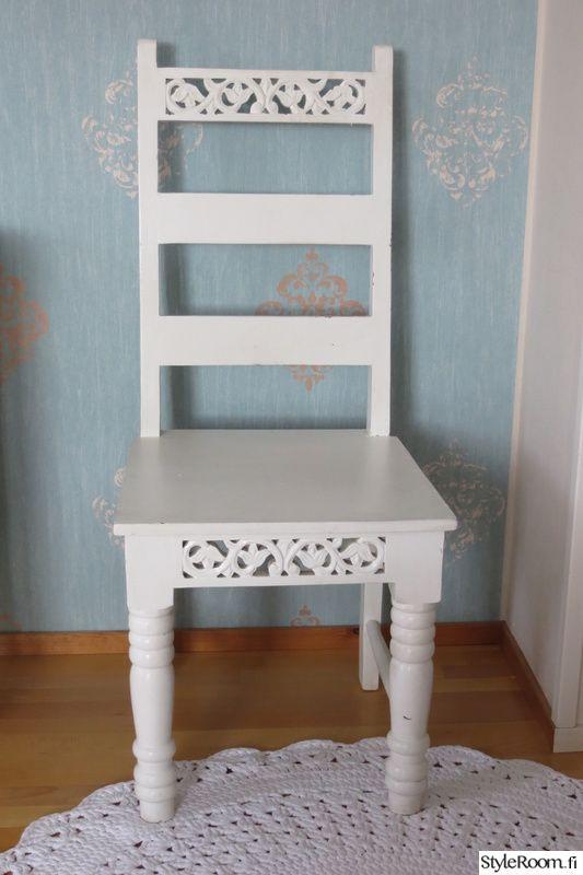 keittiö,tuoli,valkoinen,maalaisromanttinen,romanttinen
