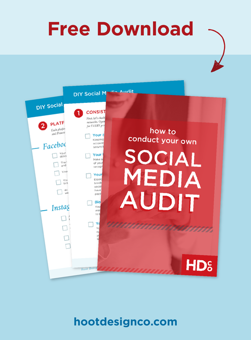 Social media marketing is HERE and here to stay as an essential part of small business's marketing strategy. Use this free social media audit to make sure you're set up for success in creating social media campaigns. // DIY Social media audit – Free download. Click through to read and save for later! | Hoot Design Co.