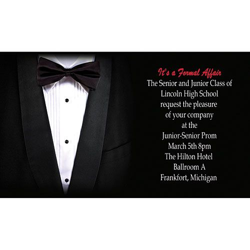 Tuxedo Invitation Template Tuxedo Personalized Invitation Free