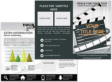 Film Studio Brochure Templates  Brochure Template Brochures And