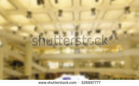 Abstract blurry department store for background. - stock photo