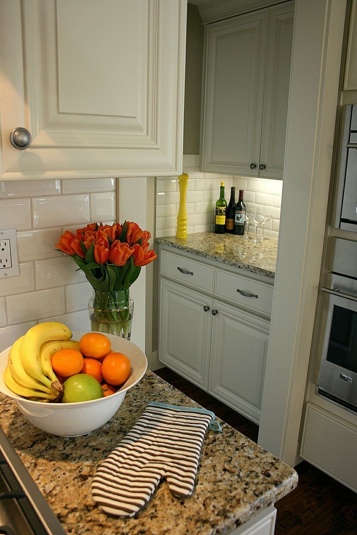 White Cabinets Tan Walls | Kitchen | Pinterest