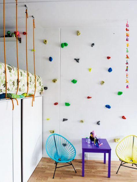 Modernes Kinderzimmer Einrichten Mit Kletterwand Als Spielwand Und Wandgestaltung