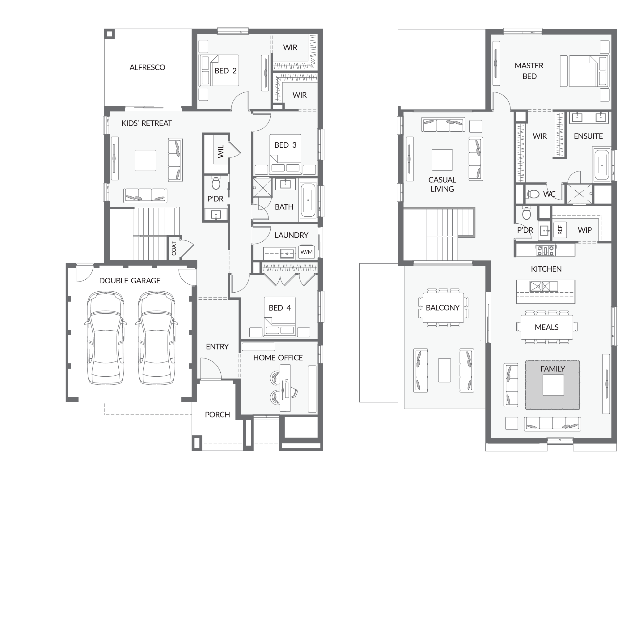Www Urbanedgehomes Com Au Home Designs Double Storey Severn House Plans Australia Double Storey House Plans Coastal House Plans