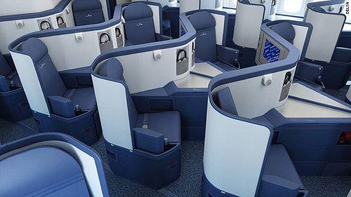 Delta Airlines New Biz Class Interiors Delta Airlines Airline Interiors Airplane Interior
