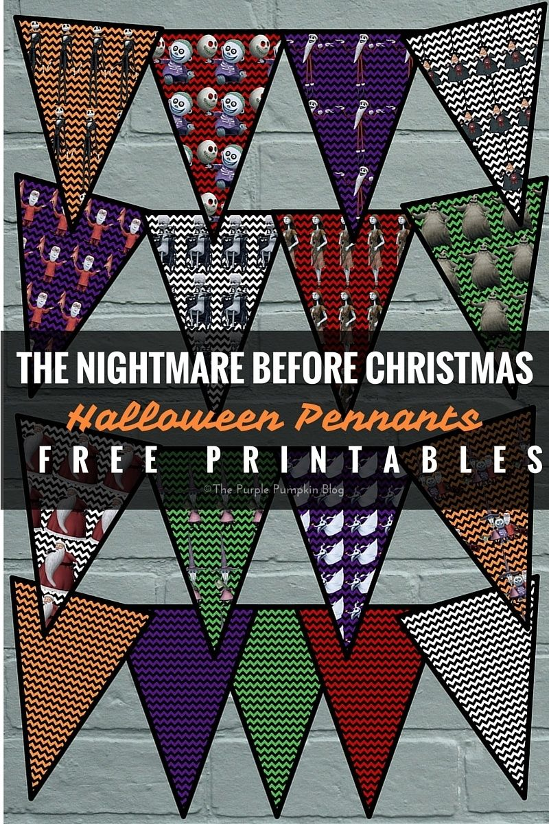 Halloween Pennants - The Nightmare Before Christmas | Party ...