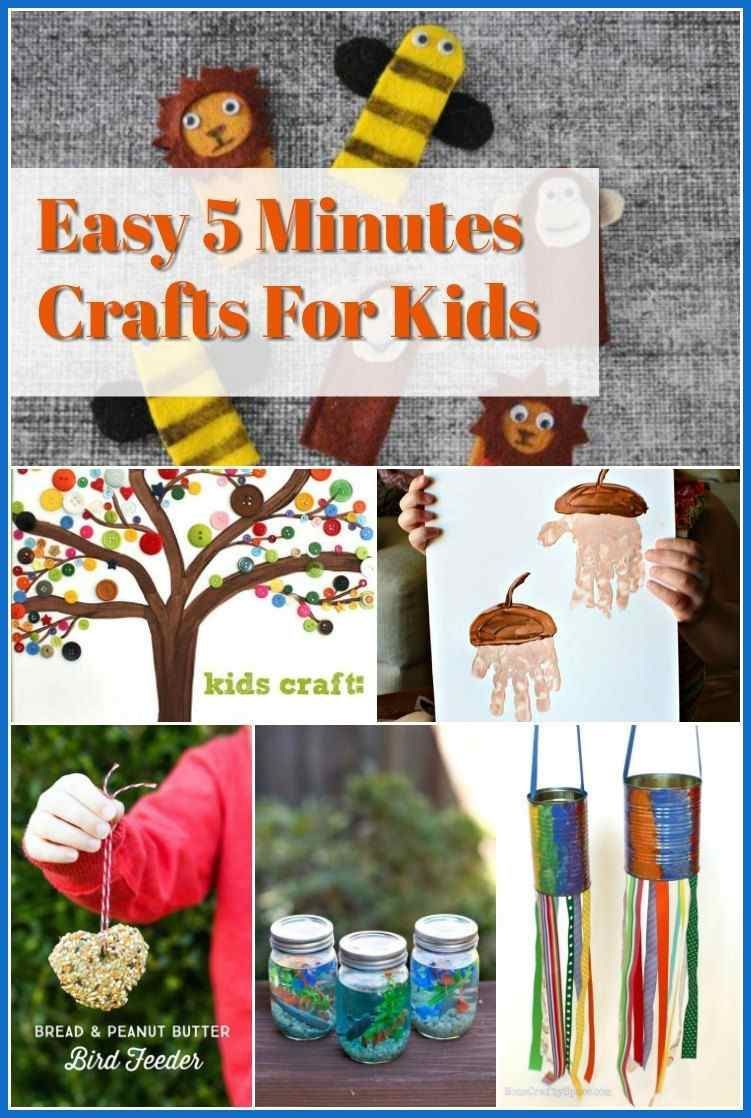 Easy 5 Minutes Crafts For Kids Diy Projects Do It Yourself Today Diy And Crafts In 2020 With Images Diy Projects For Kids Crafts For Kids 5 Minute Crafts