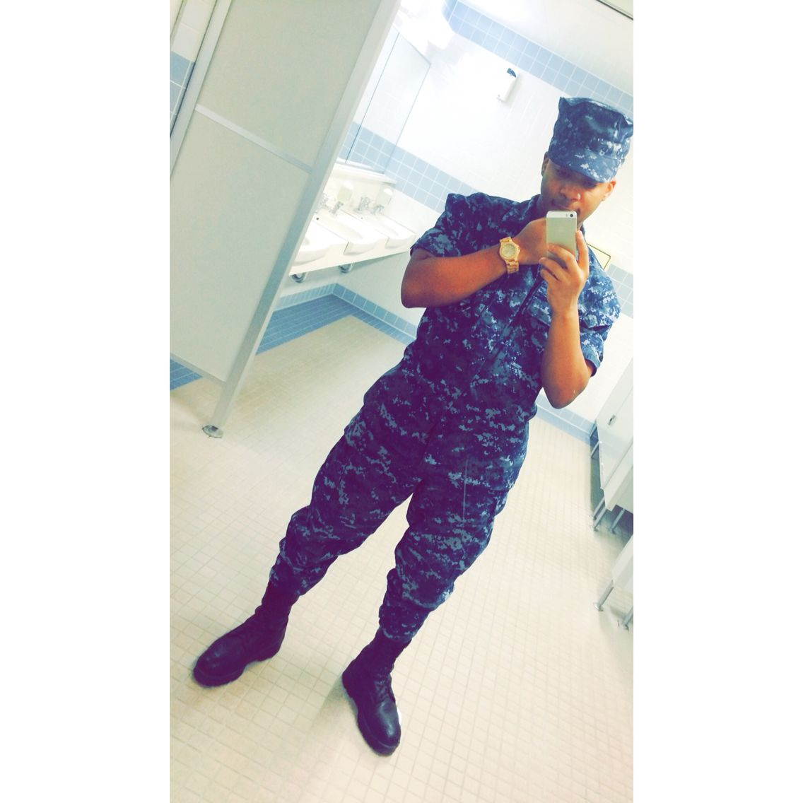 Meee  I look good in uniform