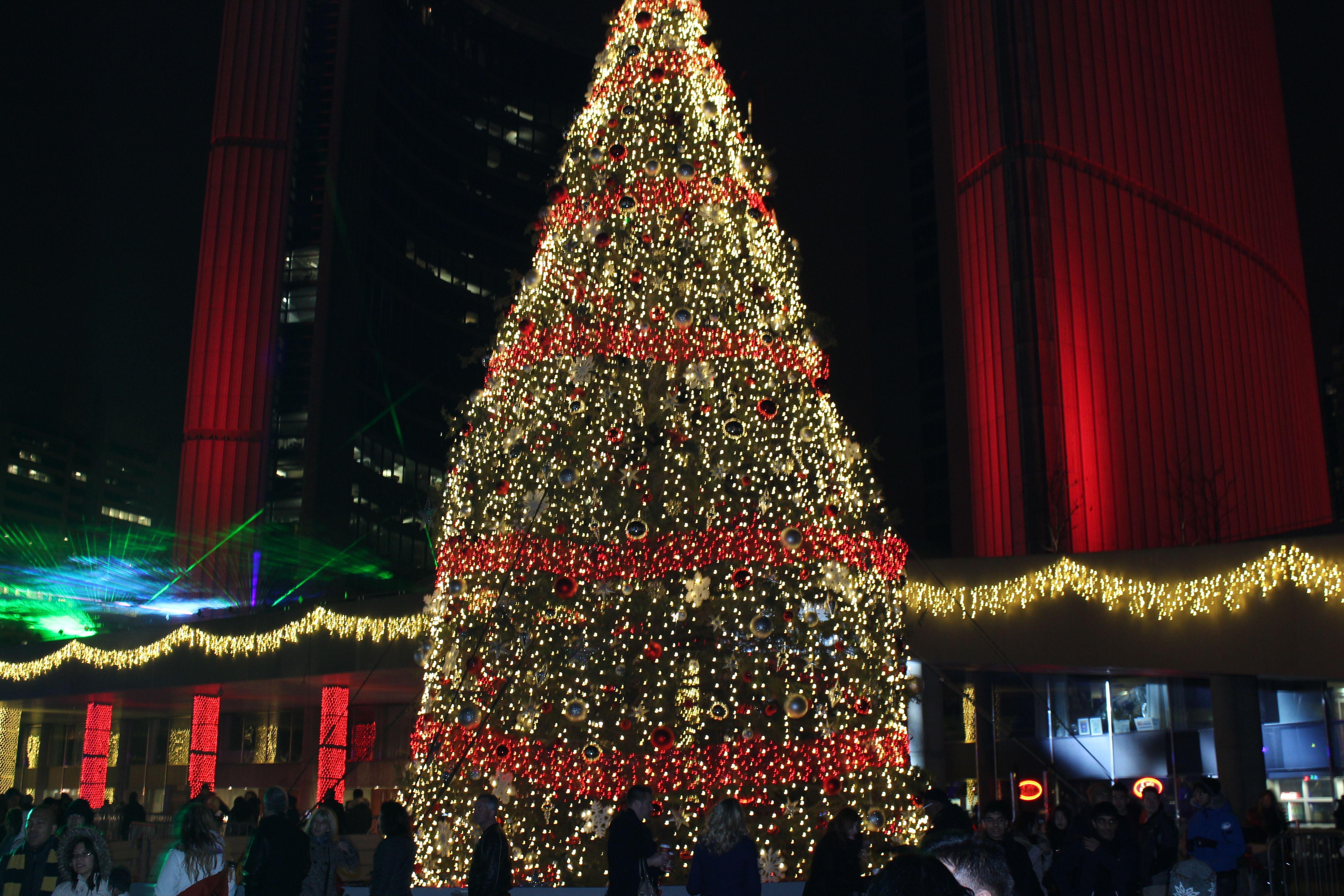 Christmas Lights, Nathan Phillips Square, Toronto, Canada