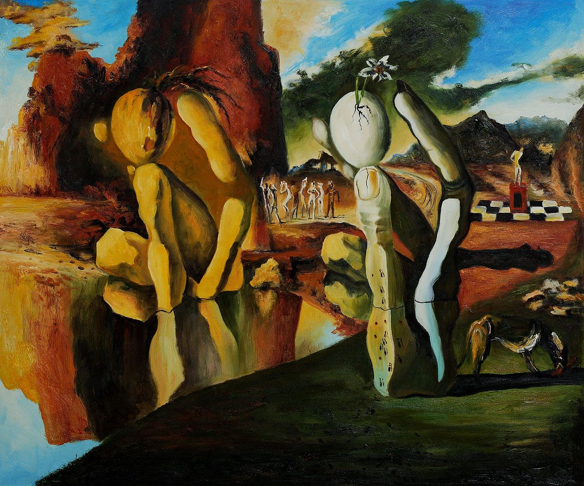 an analysis of metamorphosis of narcissus a painting by salvador dali Metamorphosis of narcissus by salvador dali is the complete interpretation of the myth of narcissus by ovid the analysis of the painting reveals more.