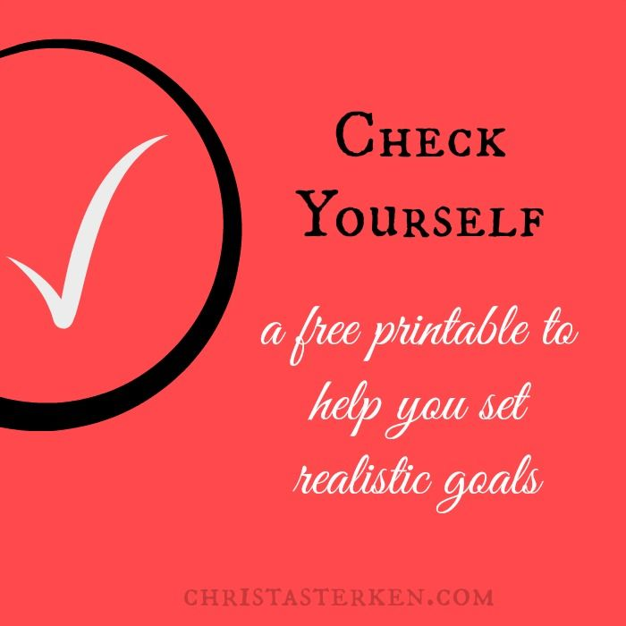 Free PDF printable- Creating Monthly Goals and Accountability - creating checklist