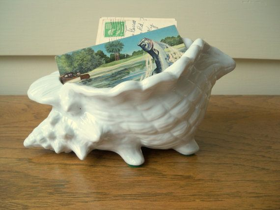 White porcelain conch shell $15 from Model Vintage on Etsy