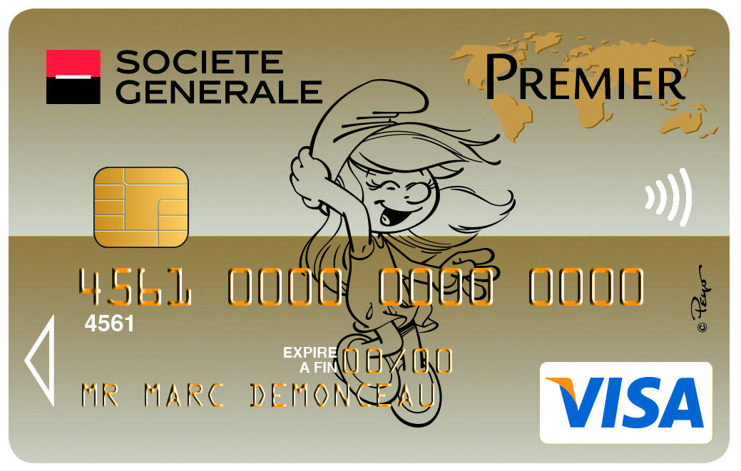 Carte Visapremier Schtroumpfette Schtroumpf Societegenerale