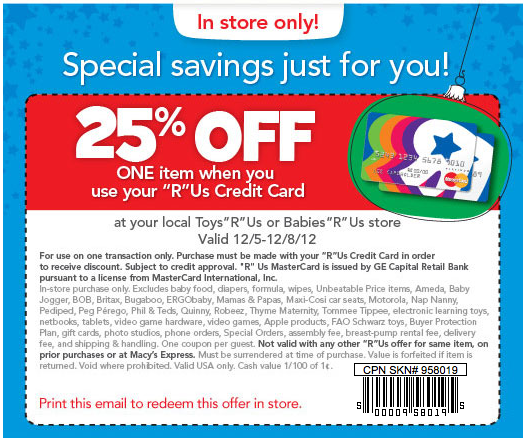 image about Printable Toysrus Coupons named Toys R Us #Coupon Incorporate #young children inside your daily life? Help you save 25% off