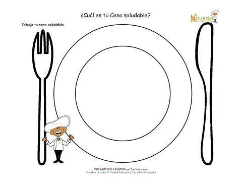 Actividad Dibuja Tu Cena Saludable En Tu Plato Nutricion Para Ninos Alimentacion Para Ninos Alimentacion Saludable Para Ninos