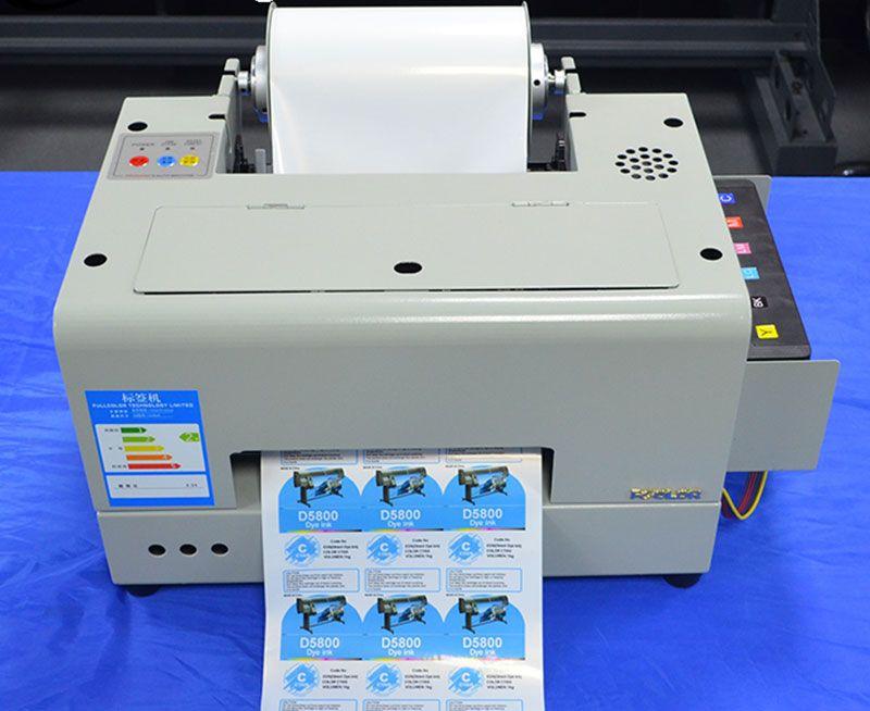 Roll Digital Color Waterproof Barcode Label Printer Machine Print By Water Based Ink Economic Printing Modif Label Printer Barcode Labels Card Printer