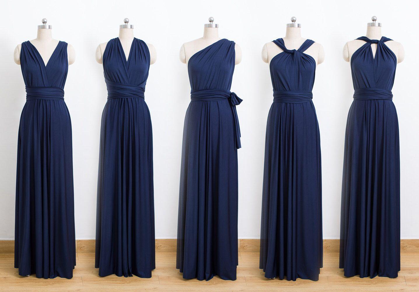 a64ddf64245 Navy Blue Maxi Infinity Dress