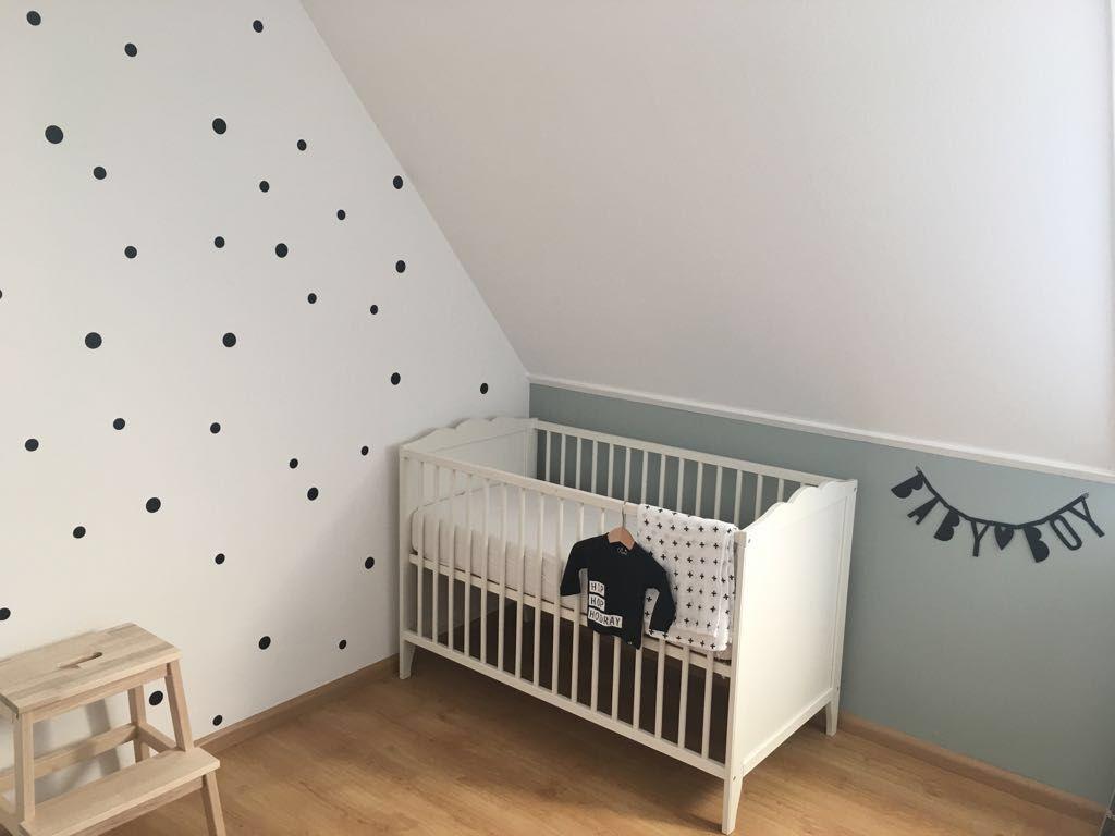 Zwart Witte Kinderkamers : Babyboyroom zwart wit en stippen early dew babyboy babykamer in