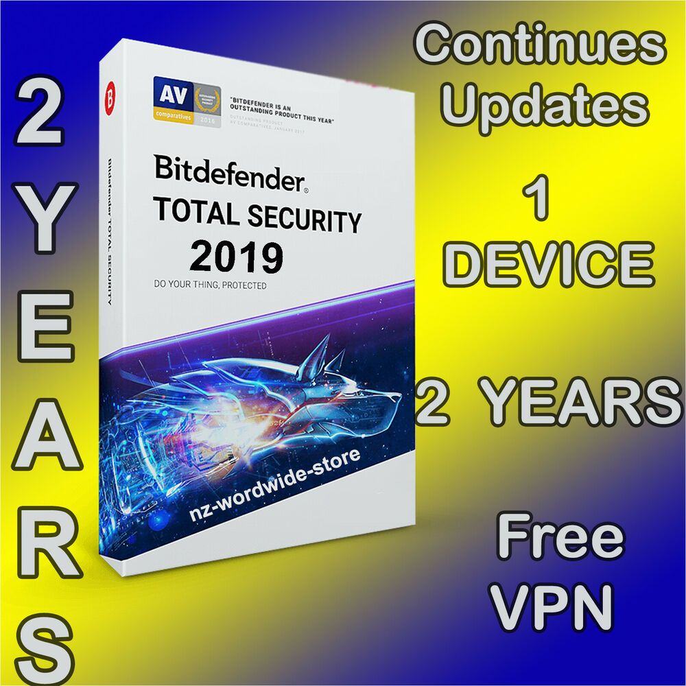 BITDEFENDER TOTAL SECURITY 2019-6 YEARS 1 DEVICE ACTIVATION DOWNLOAD
