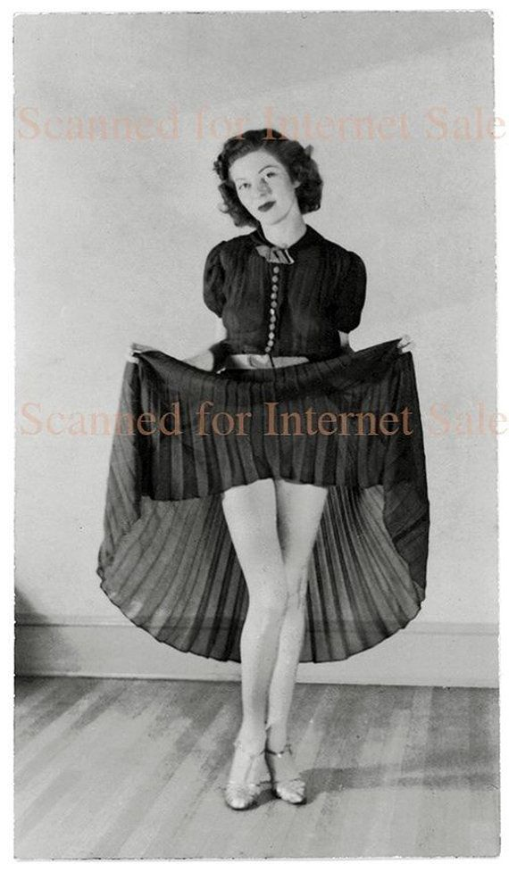 Popular Young Flirting Woman Lifting Skirt Flashing Stocking Tops Stock Photo - Image Of Slim Alone ...