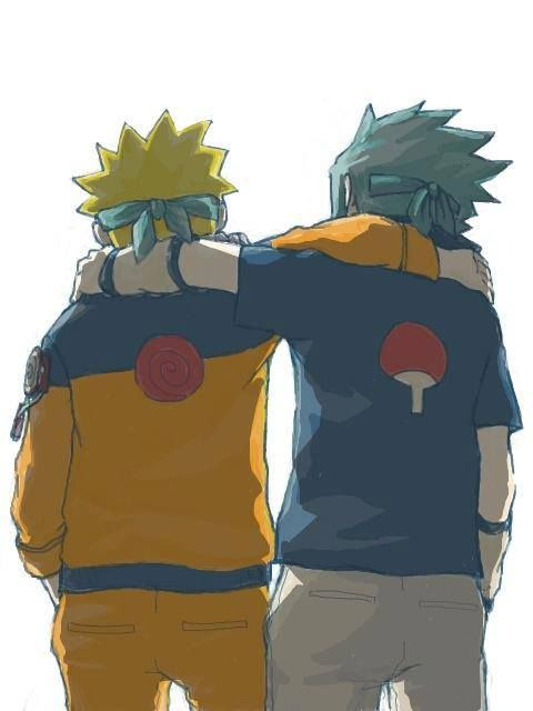 Sasuke & Naruto  best chums. pals. chumps. buddies. budds. friends. mates. you get the idea.