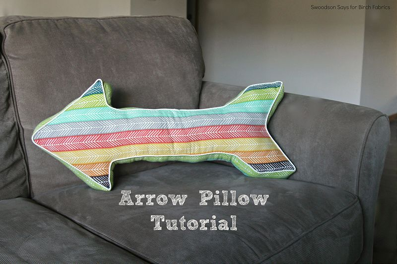 birchfabrics: Free PDF Pattern | Arrow Pillow | by Swoodson Says...