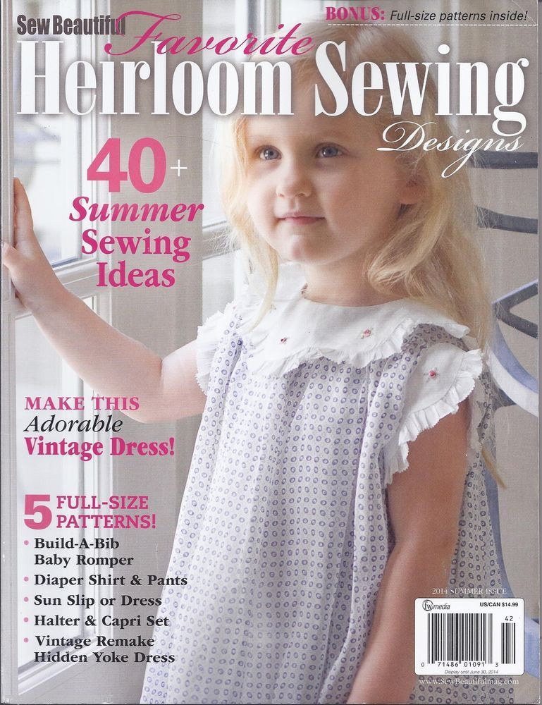 Sew Beautiful Favorite Heirloom Sewing Designs Magazine Heirloom Sewing Smocking Tutorial Sewing