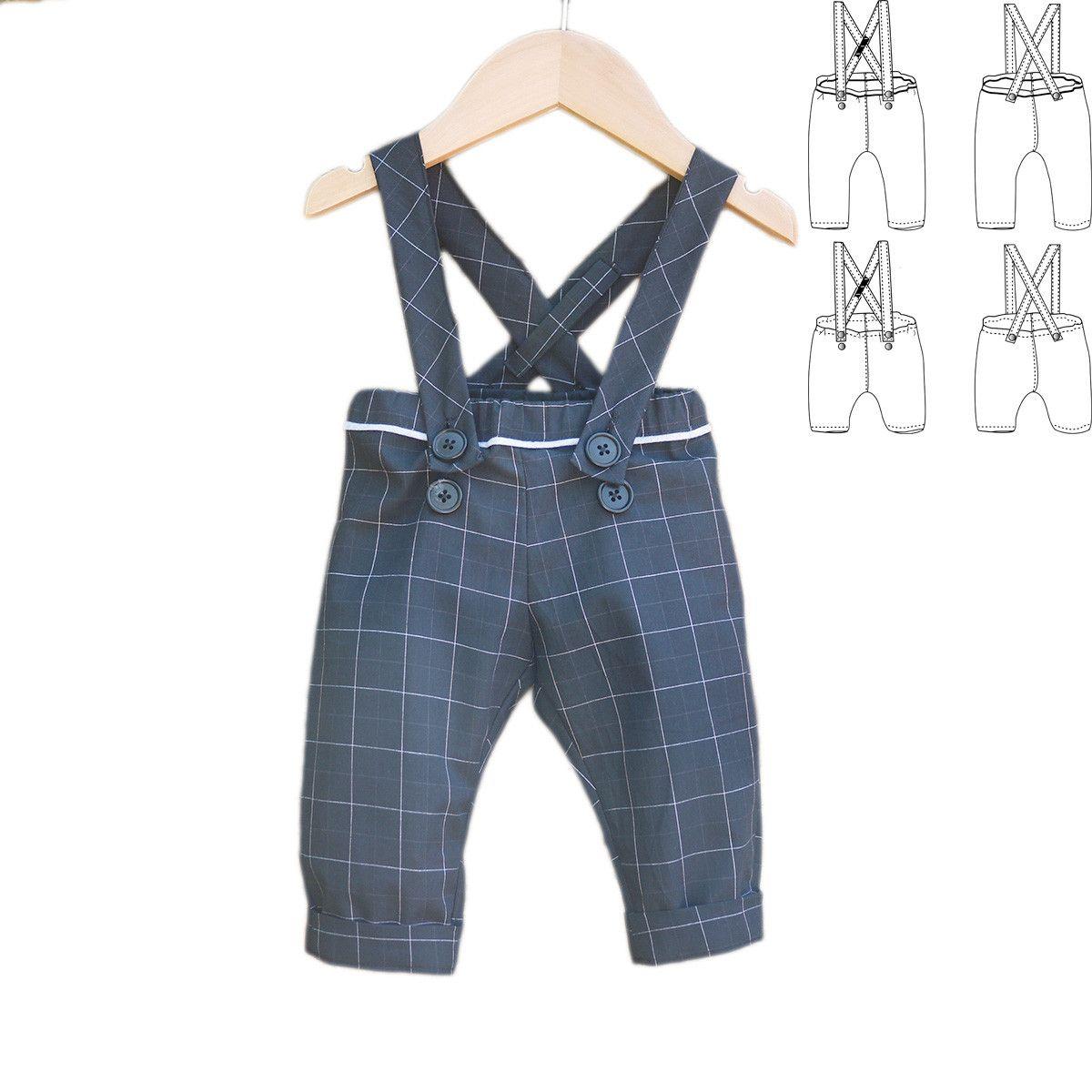 b2b3d066db23b Pantalon ou Short à bretelles BRIGHTON PDF 6M-4A | Patrons de ...