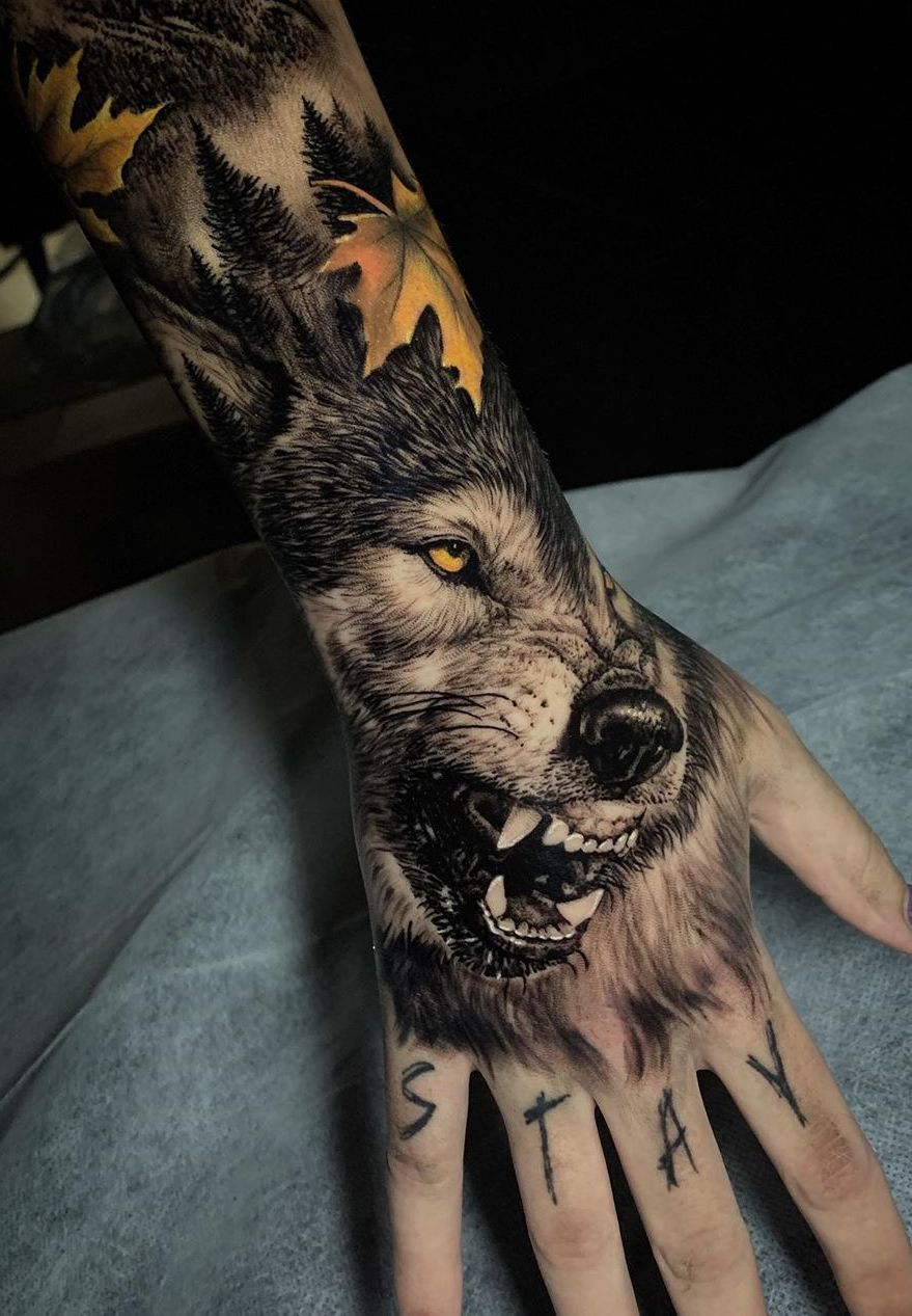 50 Of The Most Beautiful Wolf Tattoo Designs The Internet Has Ever Seen In 2020 Wolf Tattoo Design Wolf Tattoo Sleeve Cool Small Tattoos