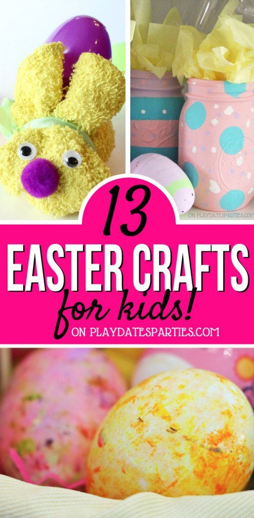 Looking to spend quality time with your kids this Easter season? Head over to playdatesparties.com to see 13 adorable Easter crafts to make with your kids.  #Easter #Eastercrafts #kids #kidscrafts #PDPcreates #PDPkids https://playdatesparties.com/easter-crafts-for-kids/