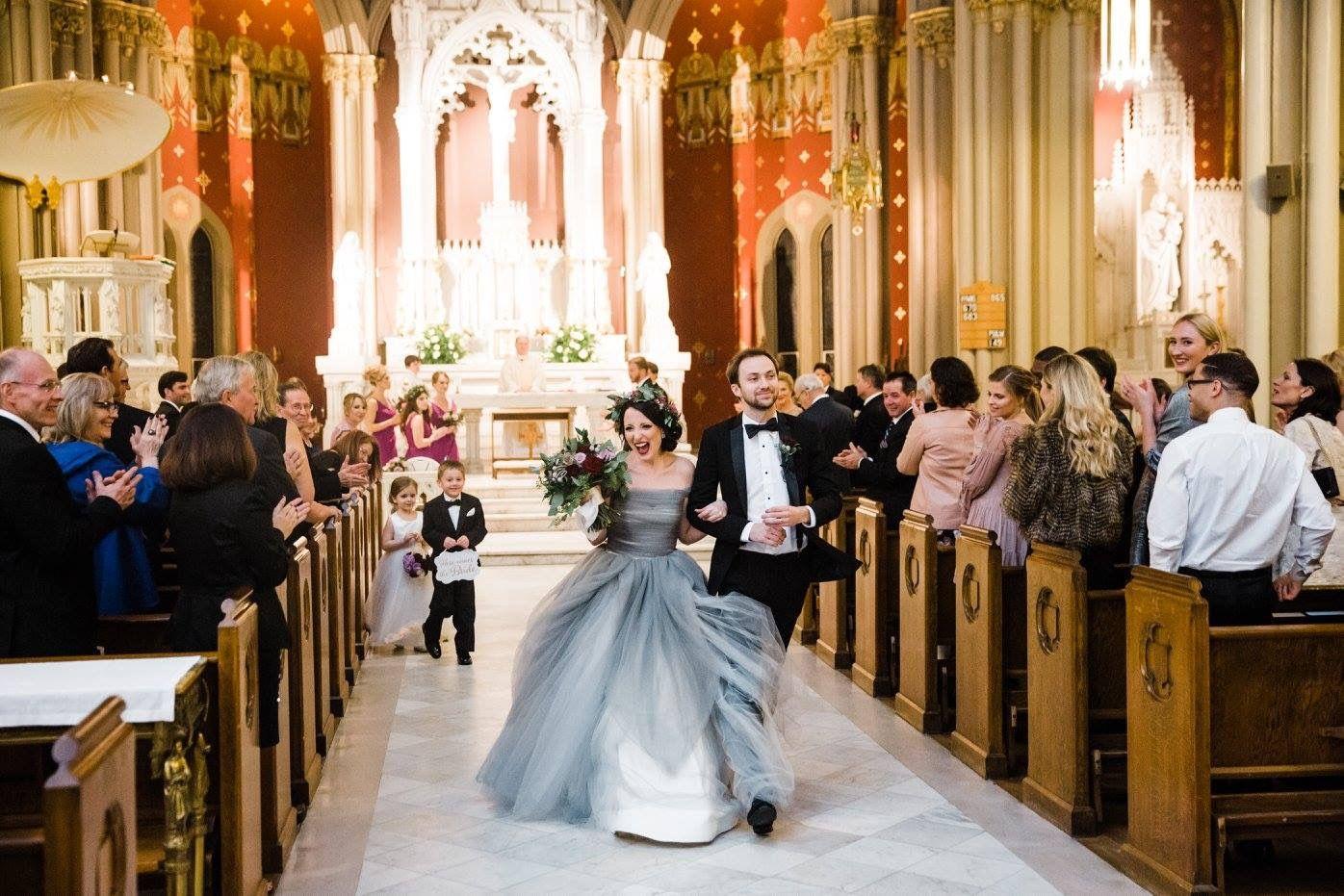 Sareh nouri marie antionette gray dress new orleans wedding sareh