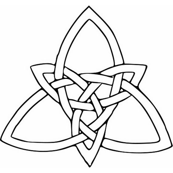 Trinity Sunday Coloring Pages Celtic Knot Tattoo Celtic