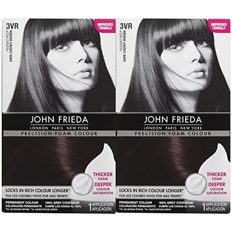 John Frieda Precision Foam Hair Colour Deep Cherry Brown 3vr 2 Pk