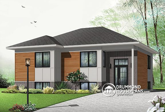 modern bungalow budget house plans | House Plan of the Week ...
