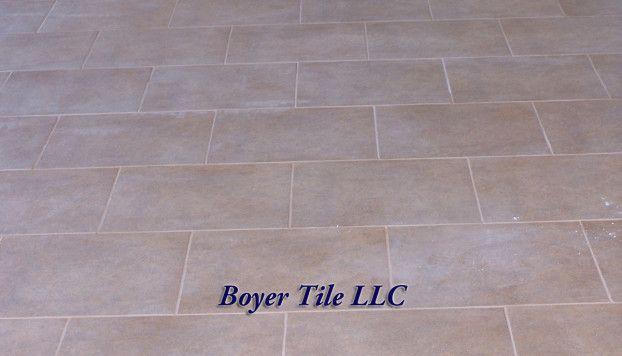 Brick Pattern Large Format Ceramic Tile Installation