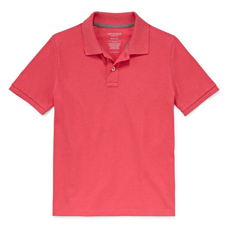 36e457c419f Arizona Short Sleeve Flex Polo Shirt Boys 4-20   Products   Short ...