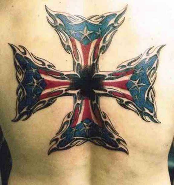 Meaningful Maltese Cross Tattoos, Iron & Firefighter (4