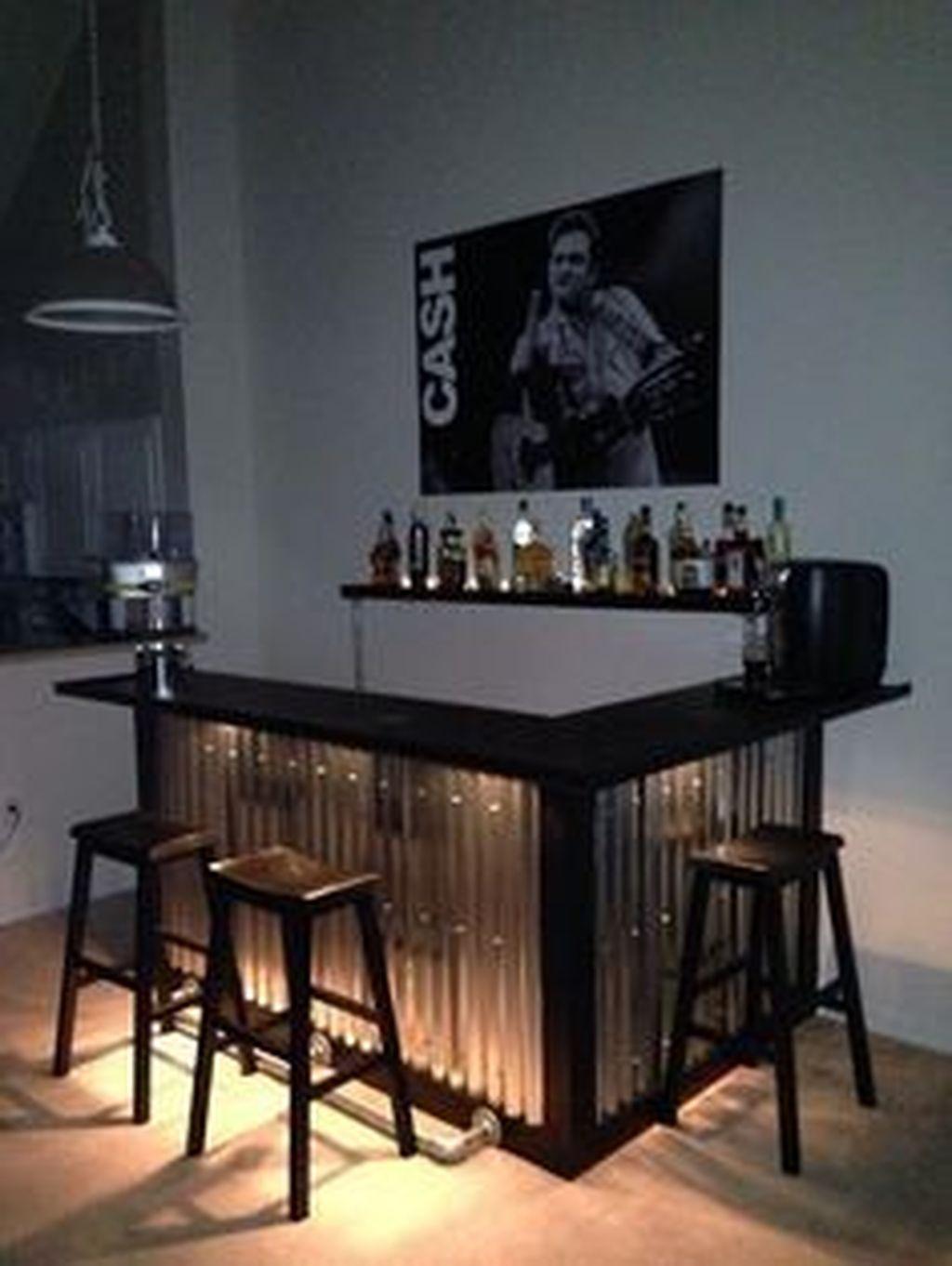 basement bar decor ideas on 30 Outstanding Rustic Home Bar Design Ideas Trenduhome Home Bar Decor Diy Home Bar Bars For Home
