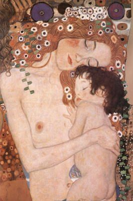 Mother And Child Gustav Klimt Cross Stitch Pattern