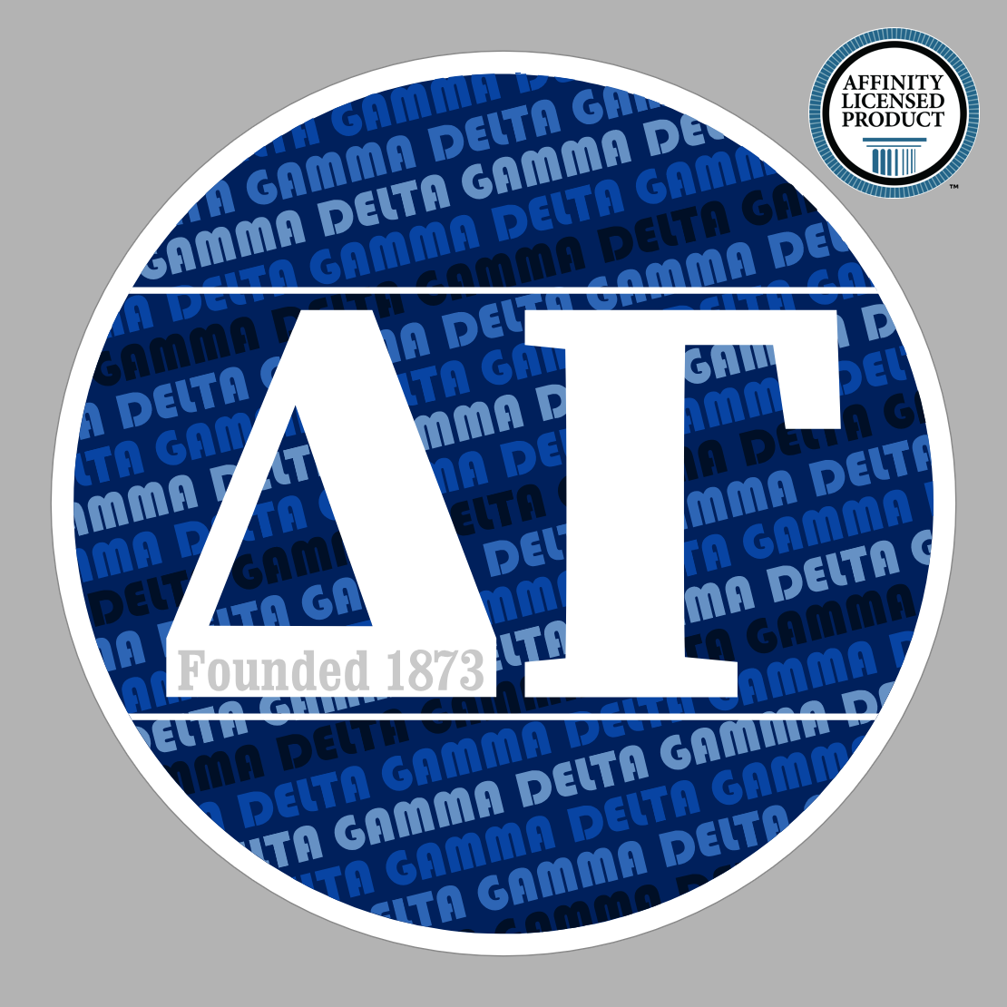 Delta Gamma Blue Founded Letters Sticker Letter Stickers Sorority Stickers Sorority And Fraternity [ 1110 x 1110 Pixel ]