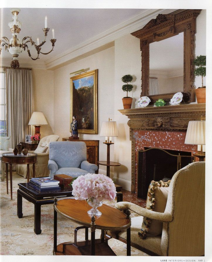 David Easton ~ NYC apartment   Classic living room, Living ...