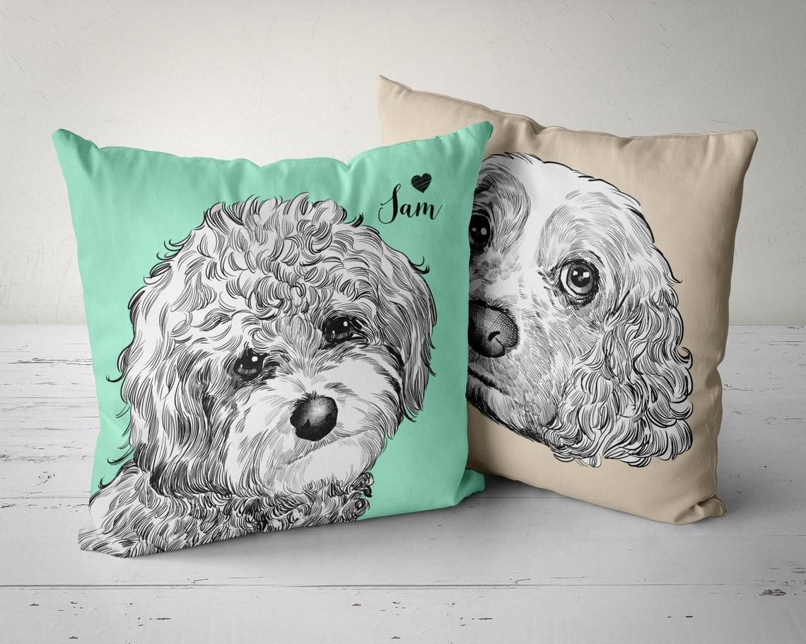 Pet Pillow, Personalized Pet Pillow, Custom Pet Pillow