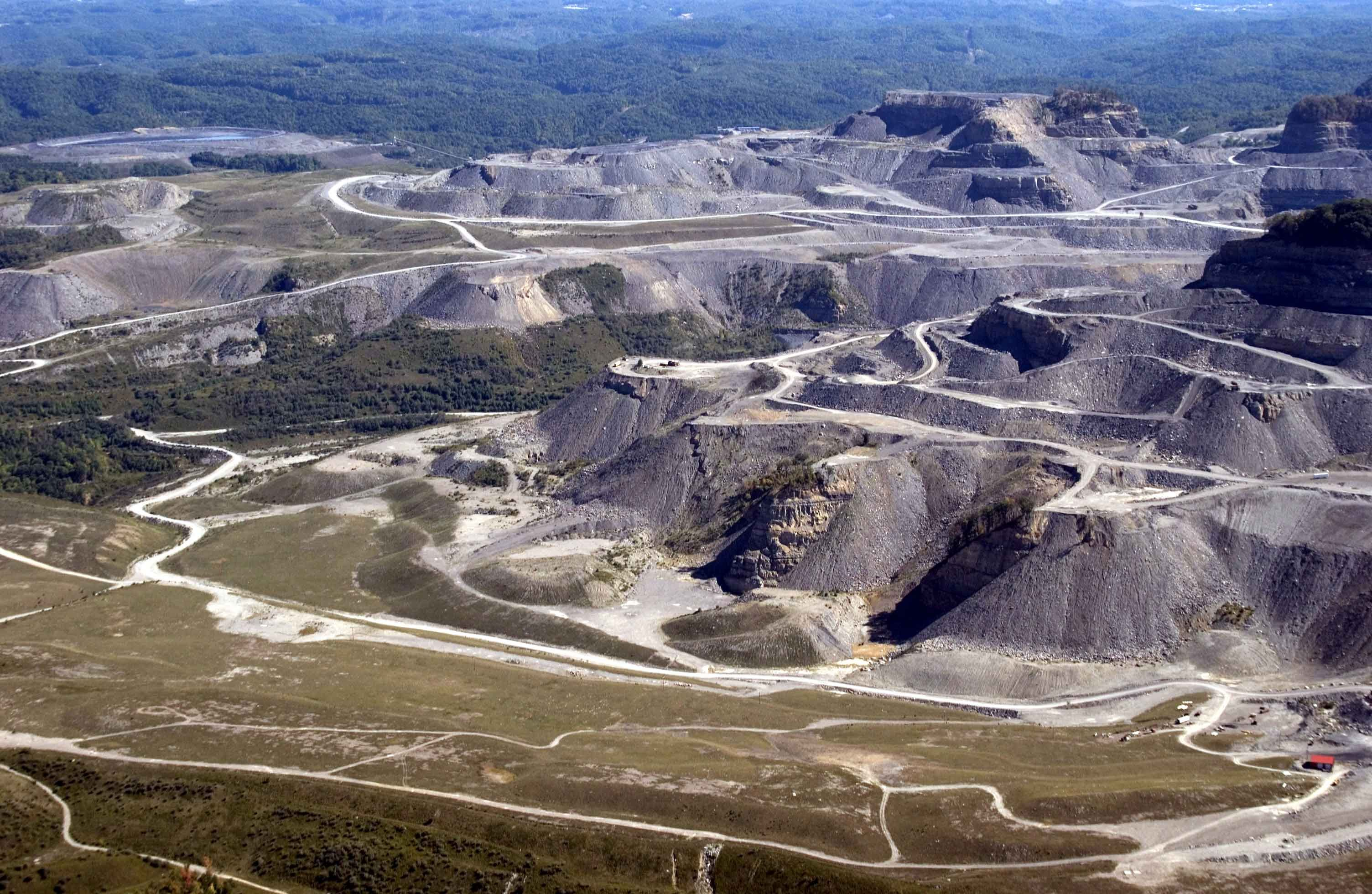 Mountaintop Removal At Oven Fork Near Whitesburg Letcher County