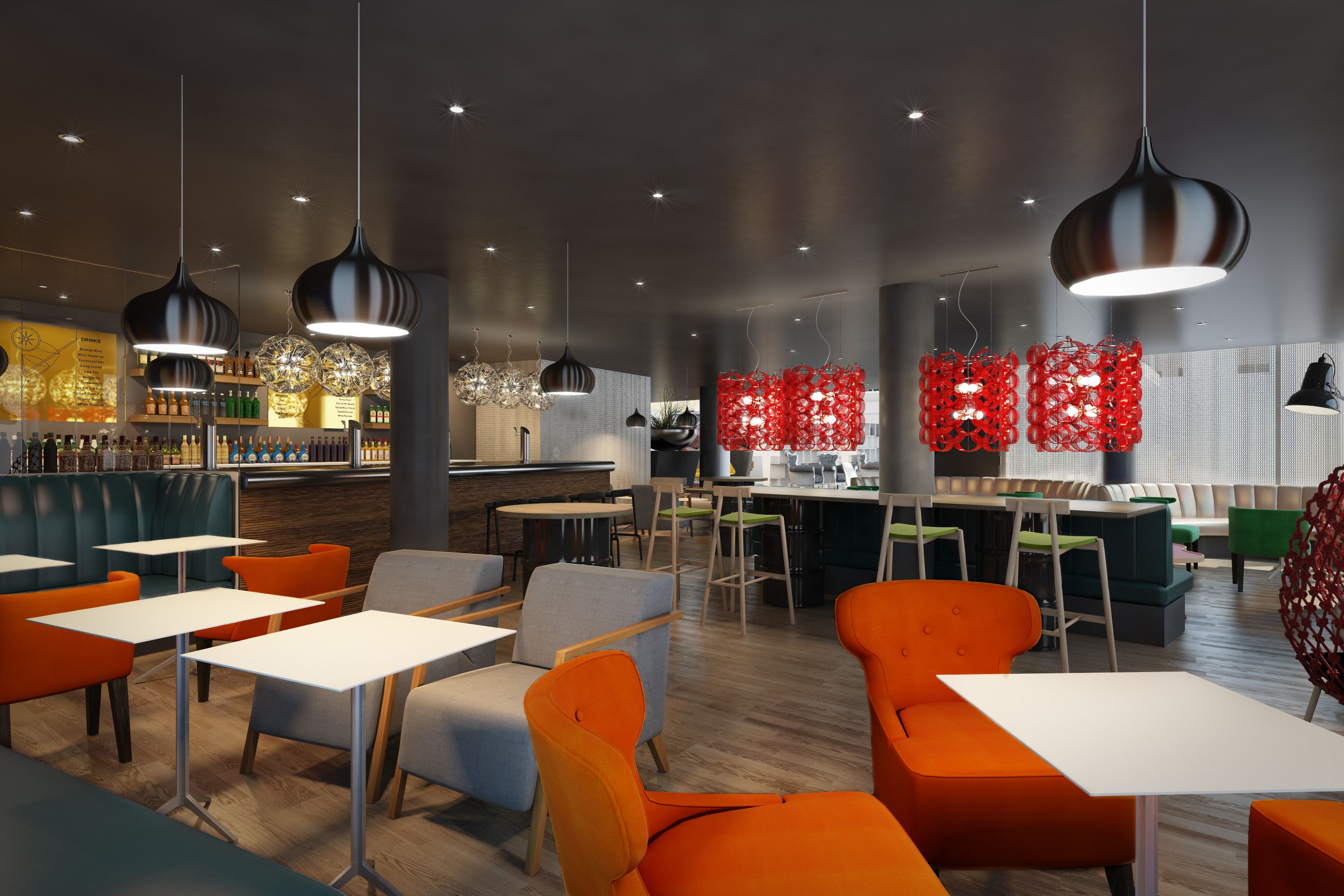 Bar area at the new Scandic Stavanger City - opening 2014