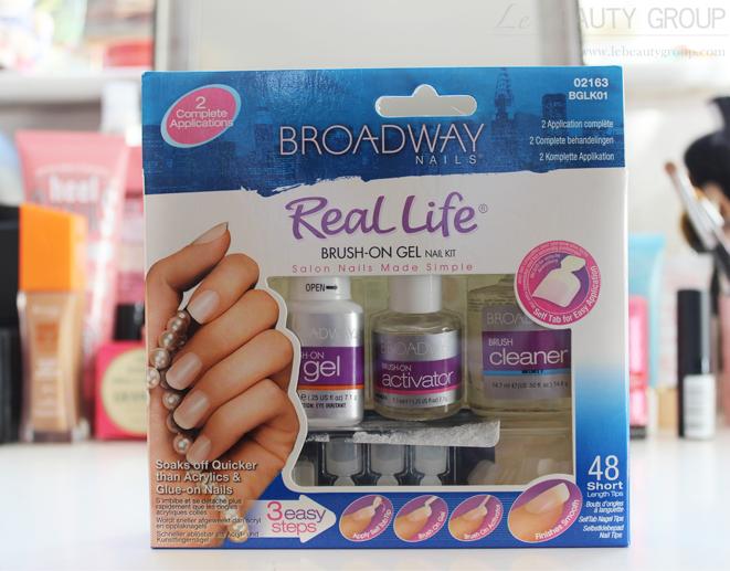 Easy gel nails, no uv light. Broadway Nails Real Life Brush-On Gel ...