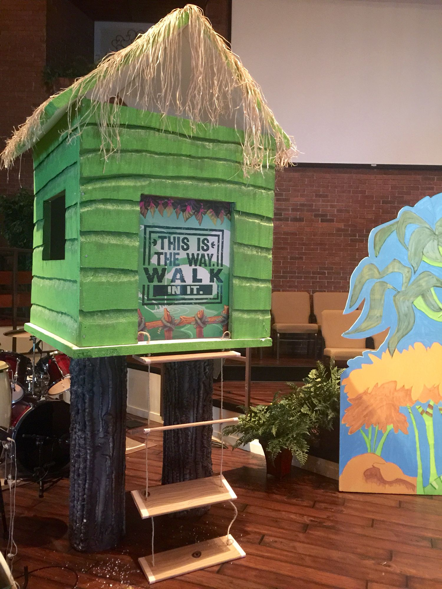 Our treehouse we built for Journey off the Map! (With ...
