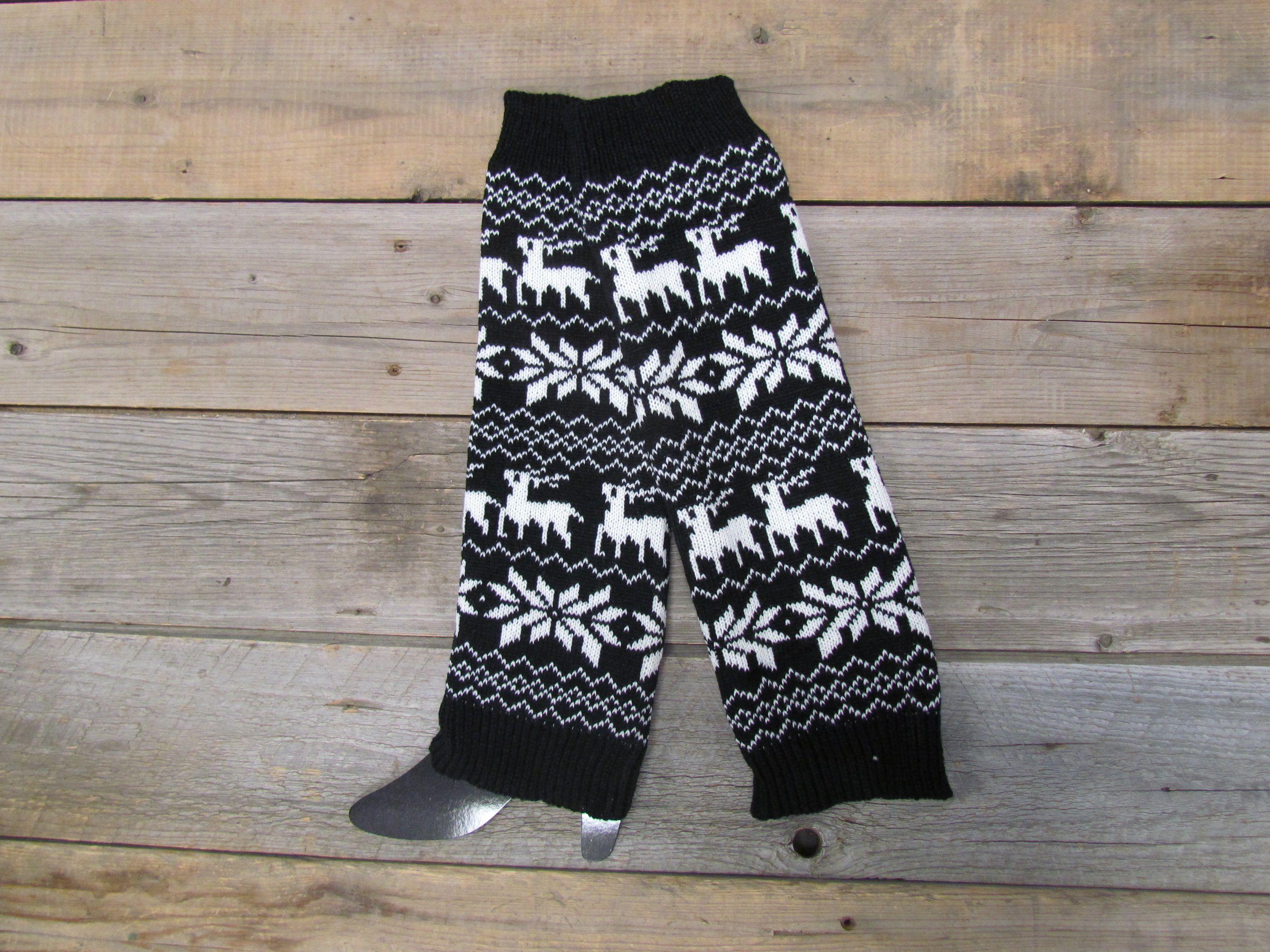 87b66dcb3a20af Black Reindeer Leg Warmers. Black Reindeer Leg Warmers North Design,  Buttery Soft Leggings ...